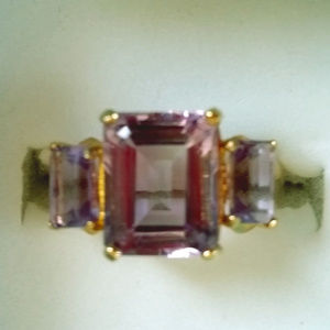 10k stamped genuine Amethyst ring! Size 8